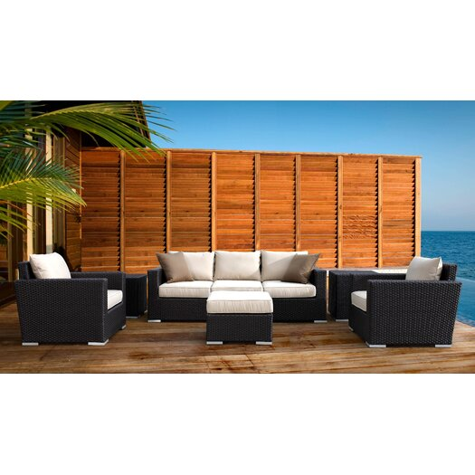 Sunset West Solana 4 Piece Deep Seating Group with Cushions