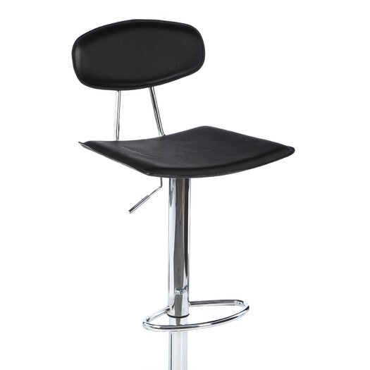 LumiSource Vector Adjustable Height Swivel Bar Stool with  : Vector2BBarstool2Bin2BBlack from allmodern.com size 525 x 525 jpeg 13kB