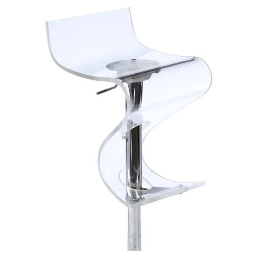LumiSource Curve Adjustable Swivel Bar Stool