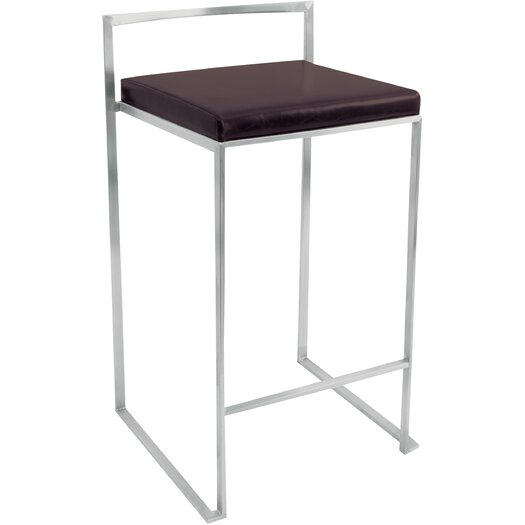 "LumiSource Fuji 31"" Bar Stool with Cushion"