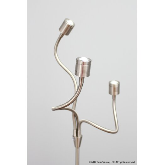 LumiSource Triflex LED Floor Lamp in Nickel