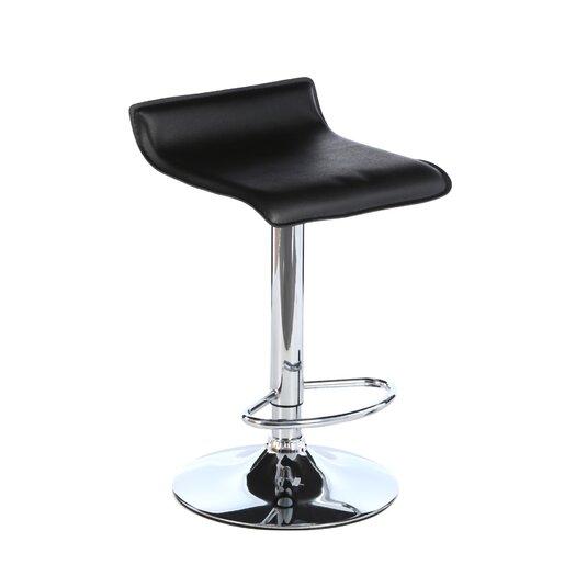 LumiSource Start Adjustable Height Swivel Bar Stool with Cushion