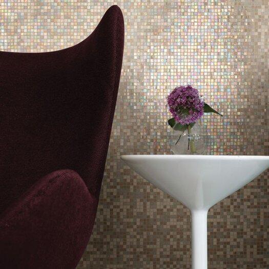 "Daltile City Lights 0.5"" x 0.5"" Glass Mosaic Tile in Beige"