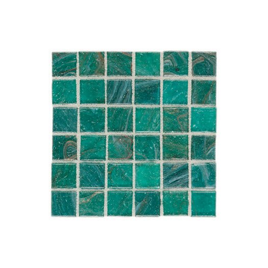 "Daltile Elemental 0.75"" x 0.75"" Glass Mosaic Tile in Blue Lagoon"