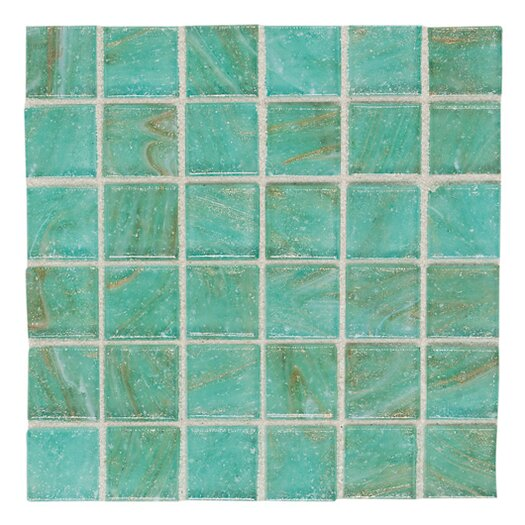 "Daltile Elemental 0.75"" x 0.75"" Glass Mosaic Tile in Mint Julep"