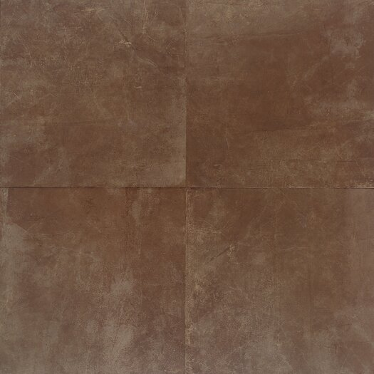 "Daltile Concrete 13"" x 13"" Porcelain Field Tile in Plaza Rouge"