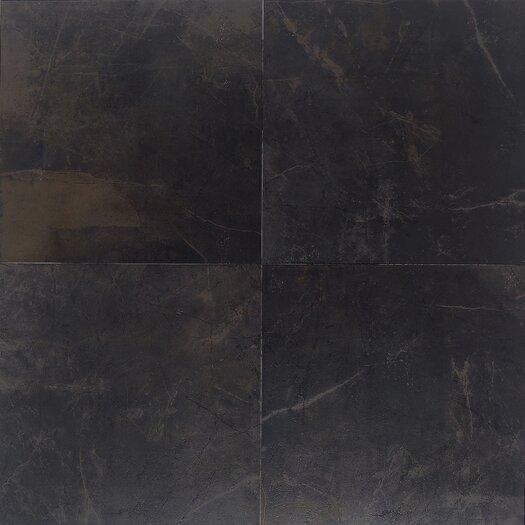 """Daltile Concrete 13"""" x 13"""" Porcelain Field Tile in Downtown Black"""