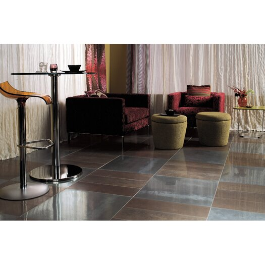Daltile Fusion 24'' x 24'' Metal Field Tile in Stainless Steel