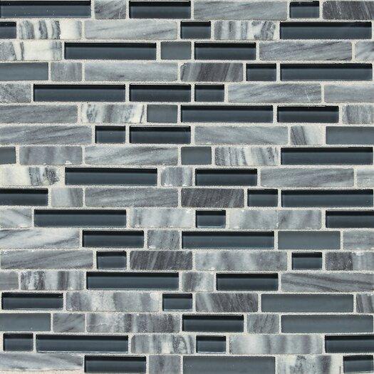 Daltile Stone Radiance Random Sized Slate Mosaic Tile in Glacier Gray Marble
