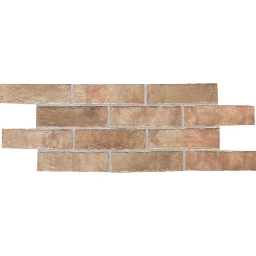 Daltile Union Square 2'' x 8'' Quarry Mosaic Tile in Heirloom Rose