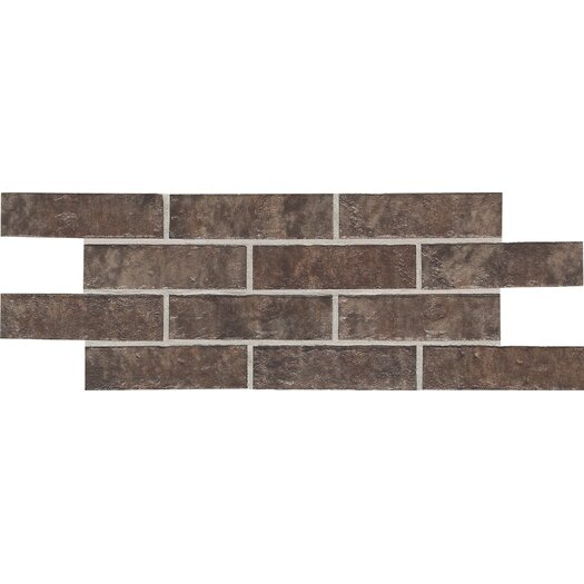 Daltile Union Square 2'' x 8'' Quarry Mosaic Tile in Cobble Brown