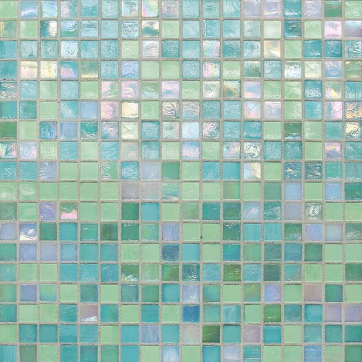 "Daltile City Lights 0.5"" x 0.5"" Glass Mosaic Tile in Blue"