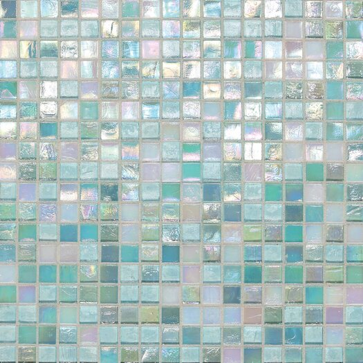 "Daltile City Lights 0.5"" x 0.5"" Glass Mosaic Tile in South Beach"