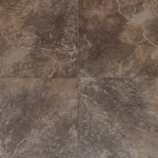 Daltile Continental Slate 12'' x 18'' Porcelain Field Tile in Moroccan Brown