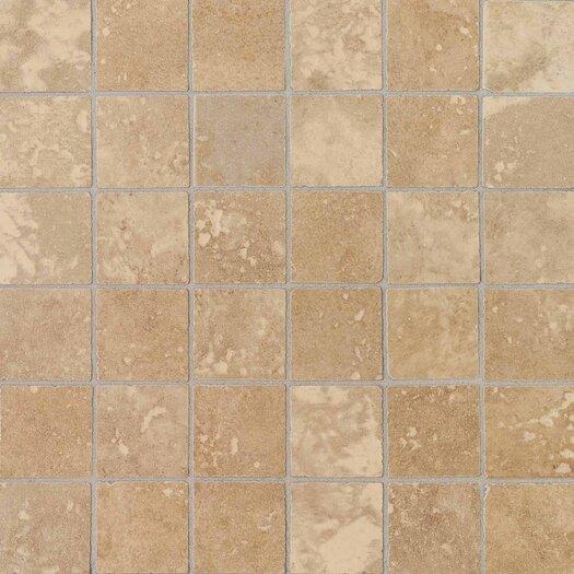 "Daltile Pietre Vecchie 2"" x 2"" Ceramic Mosaic Tile in Warm Walnut"