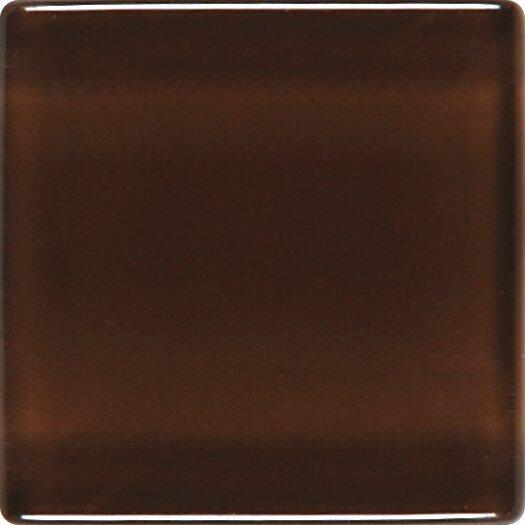 """Daltile Illustrations 1"""" x 1"""" Ceramic Mosaic Tile in Chocolate Sundae"""