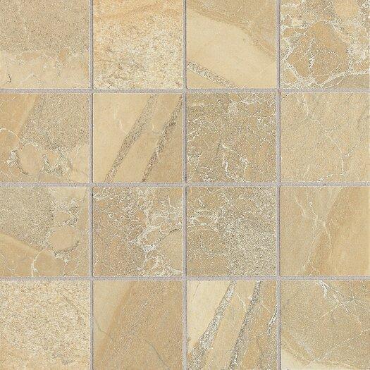 "Daltile Ayers Rock 3"" x 3"" Porcelain Mosaic Tile in Golden Ground"