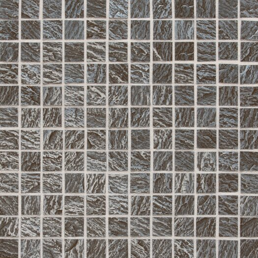"Daltile Ages 1"" x 1"" Metal Mosaic Tile in Clefted Pewter"