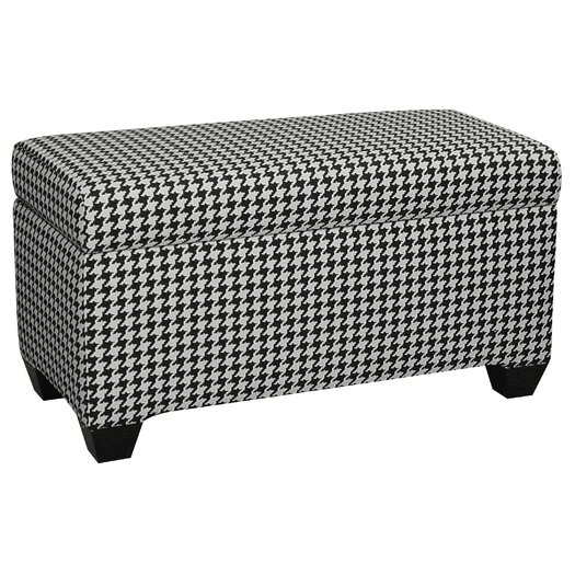 Skyline Furniture Upholstered Cotton Berne Storage Ottoman