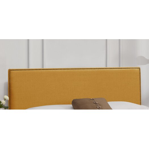 Skyline Furniture Nail Button Linen Upholstered Headboard