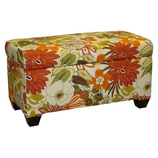Skyline Furniture Upholstered Lilith Cotton Storage Ottoman