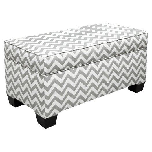 Skyline Furniture Zig Zag Storage Ottoman