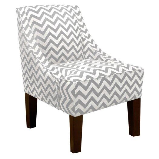 Skyline Furniture Zig Zag Swoop Arm Chair