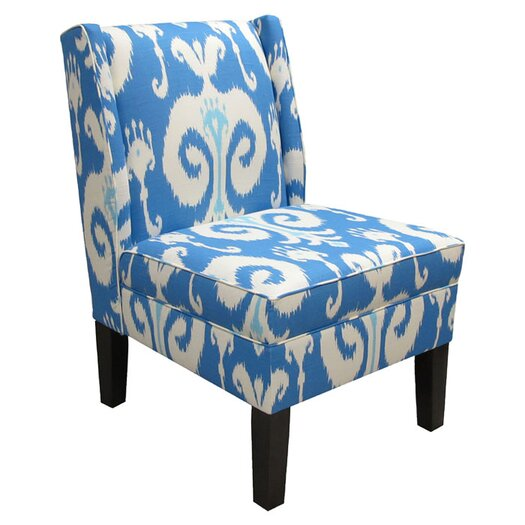 Skyline Furniture Wingback Himalaya Upholstered Slipper Chair