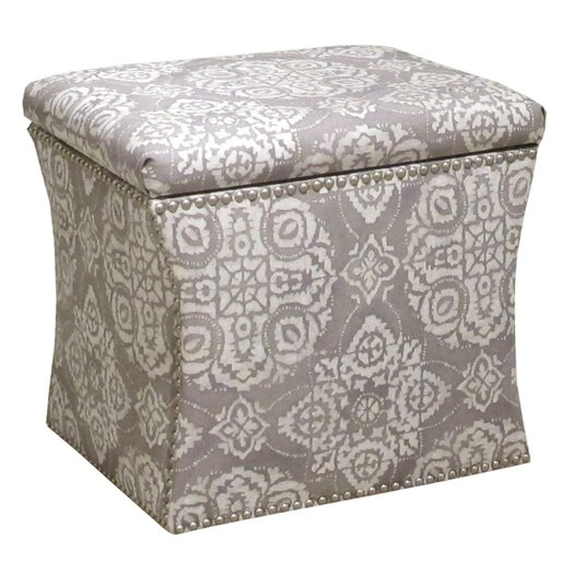 Skyline Furniture Nail Button Jakarta Storage Ottoman