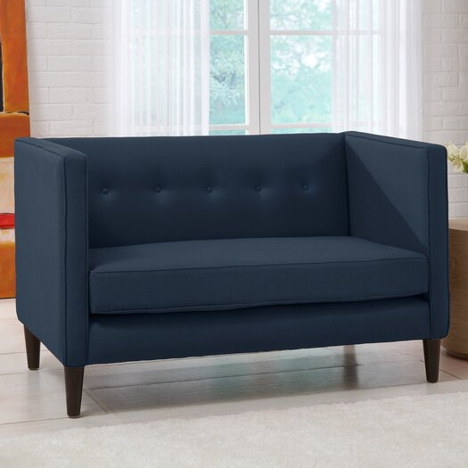 Skyline Furniture Linen 5 Button Chaise Loveseat Allmodern