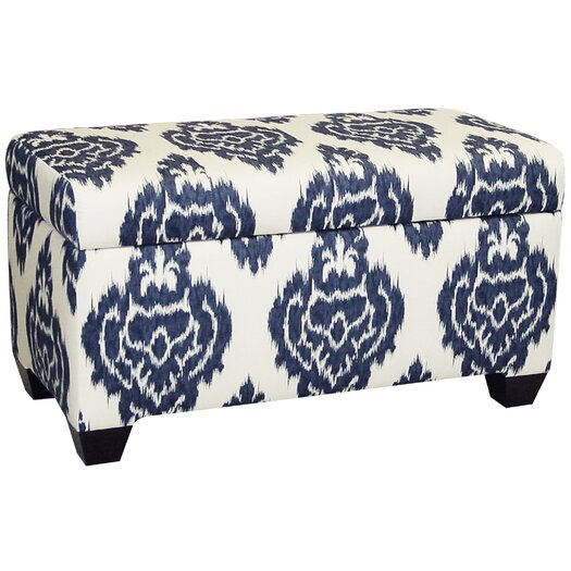 Skyline Furniture Diamon Upholstered Cotton Storage Ottoman