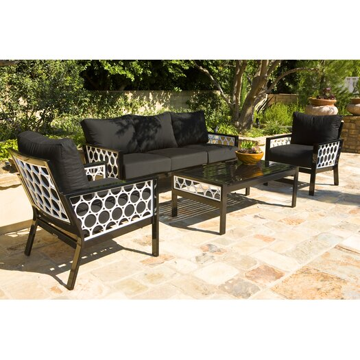 Koverton Parkview Cast 4 Piece Deep Seating Group with Cushions