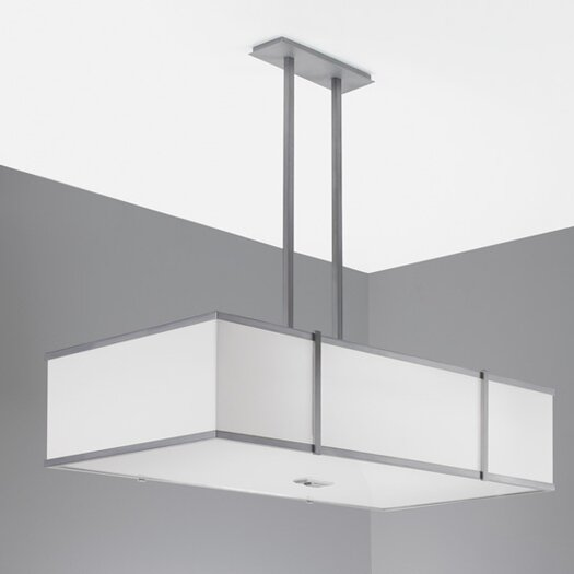 ILEX Lighting Hatbox Rectangle Pendant with Double Stem