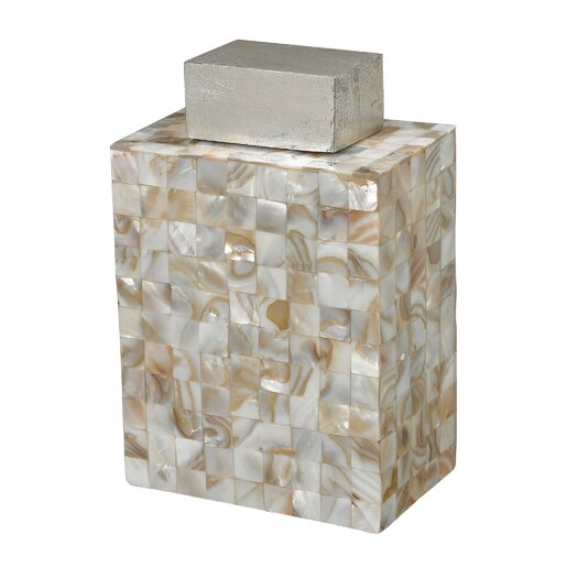 Sterling Industries Bolton Mother of Pearl Decorative Jar