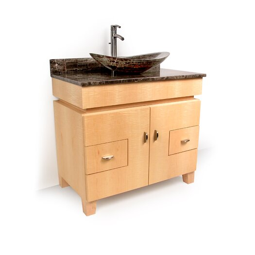 "D'Vontz MDV Modular Cabinetry 36"" Footed Bathroom Vanity Base"