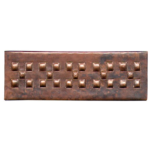 "D'Vontz Checker Band 6"" x 2"" Copper Border Tile in Dark Copper"