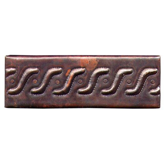"D'Vontz Roman Band 6"" x 2"" Copper Border Tile in Dark Copper"
