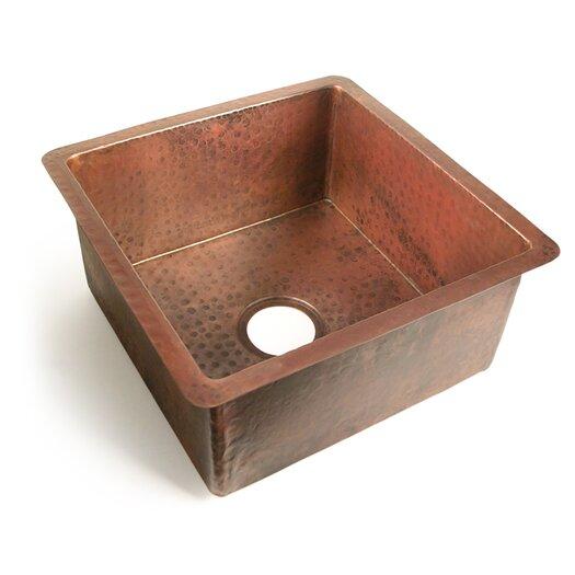 """D'Vontz Copper 18"""" x 18"""" Chico Single Bowl Kitchen Sink"""