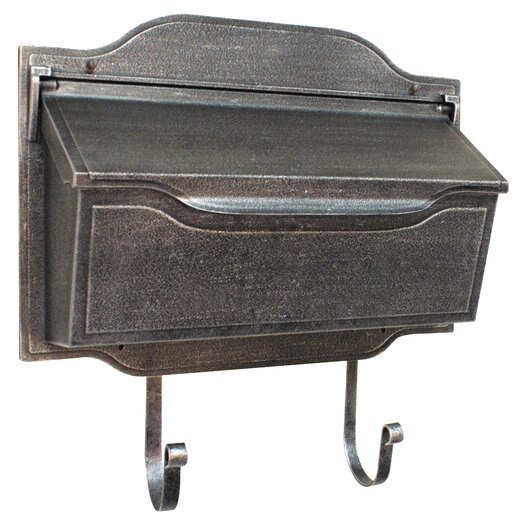Special Lite Products Contemporary Wall Mounted Mailbox with Rain Overhang