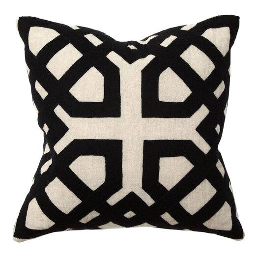 Kosas Home African Mod Kalena Applique Linen Throw Pillow