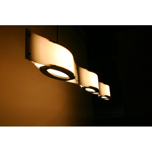 Shiner International Triple Wave 3 Light Mini Pendant