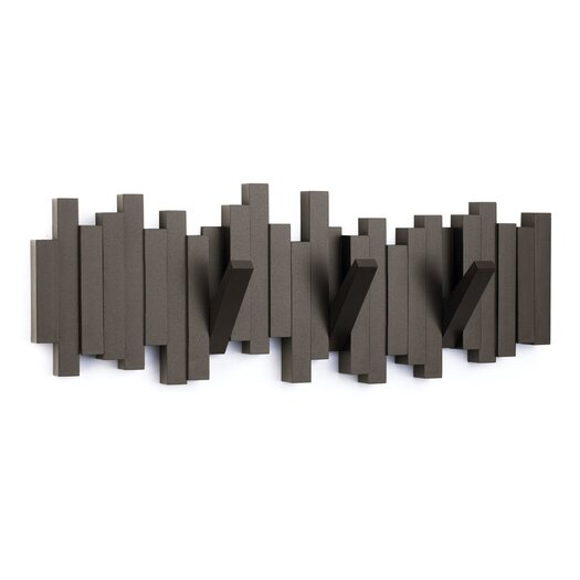 Umbra Sticks Molded 5 Hook Wall Mounted Coat Rack