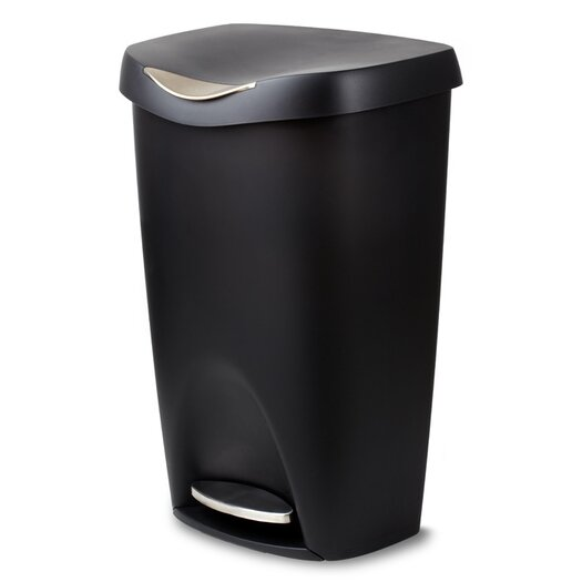 13-Gal Brim Step Trash Can