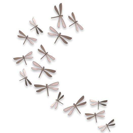 Umbra 20 Piece Wallflutter Dragonflies Wall Decor Set
