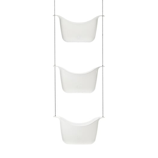 Umbra 3 Basket Shower Caddy in White and Nickel