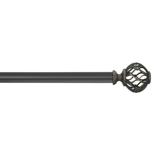 Umbra Nicolas Single Curtain Rod and Hardware Set
