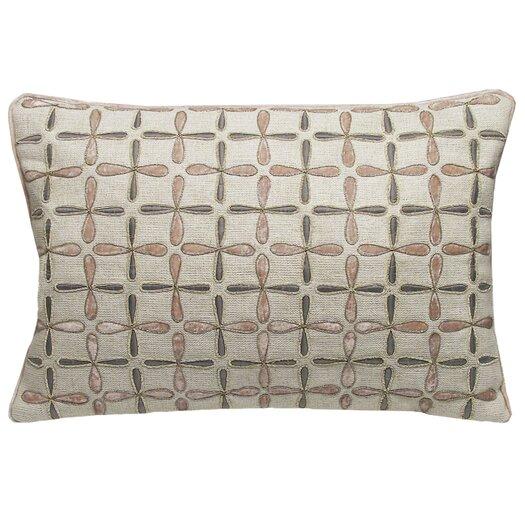 Kevin O'Brien Studio Petal Flower Embellished Linen Lumbar Pillow