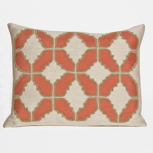 Kevin O'Brien Studio Baroque Embellished Tiles Cotton Lumbar Pillow