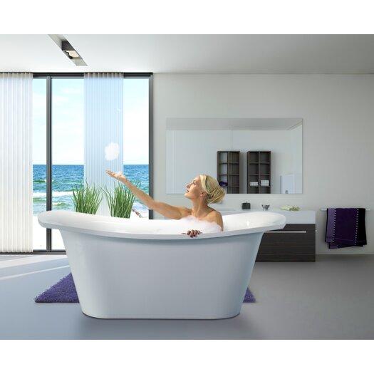 "Aquatica LoveMe 71"" x 34"" Soaking Bathtub"