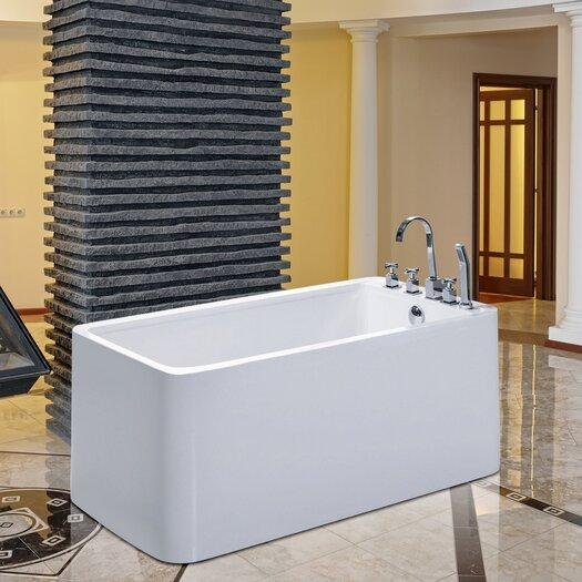 """Aquatica PureScape 55"""" x 30"""" Soaking Bathtub"""